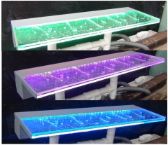 RGB LED light acrylic spillway water curtain pool